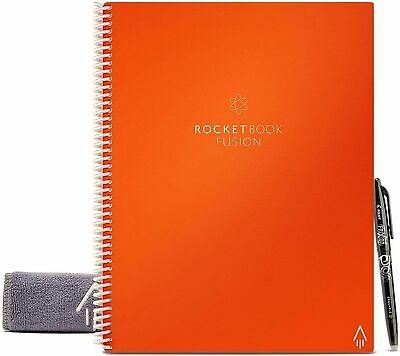 Rocketbook EVRF-L-K-A Fusion Smart Reusable Notebook with Pen Letter Size Black