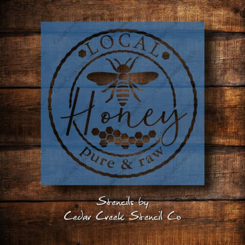 Farmhouse Local honey stencil reusable honey bee craft stencil for sign making