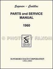 1960 Cadillac Superior Parts Book 60  Hearse Flower Car and Ambulance