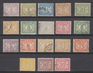 Suriname-69-86-used-gestempeld-Cijfer-1913