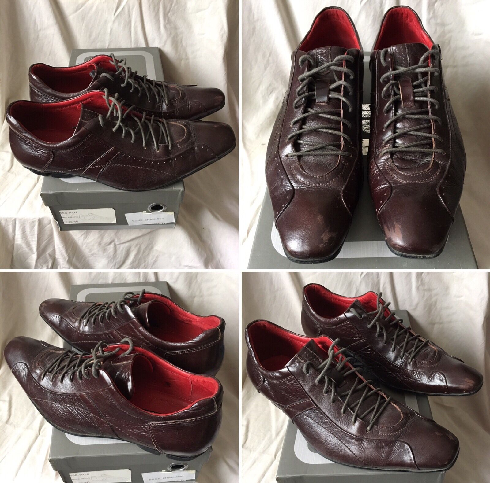 SOLD OUT RARE BROWN BUNKER BKR LEATHER SHOES shoes SIZE 40
