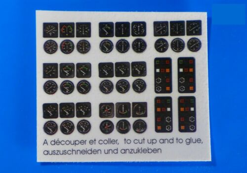 Model Boat Fittings Instrument Panel Decals 7.5mm 1:10 Scale CMBA300-10
