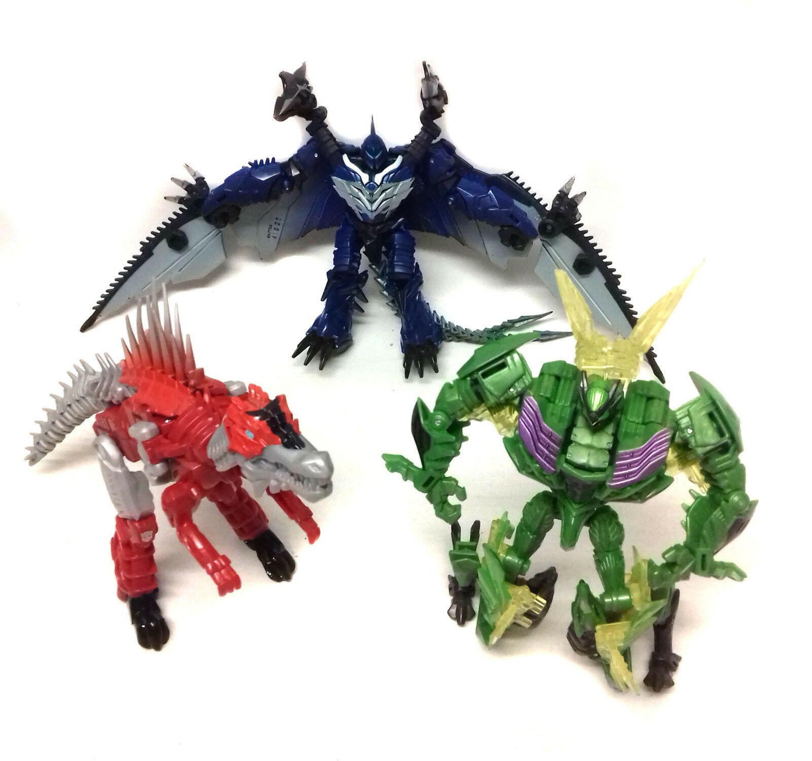Transformers Age of Extinction  Deluxe Class Dinobos set of 3 toy figures NICE