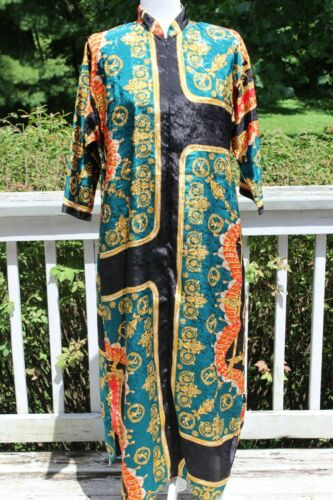 VINTAGE 80's RUTH NORMAN NEW YORK EXOTIC PRINT CAF