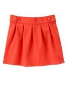 Ingenious Nwt Gymboree Girls Mod About Orange Skirt Size 5 & 7 Modern And Elegant In Fashion Bottoms