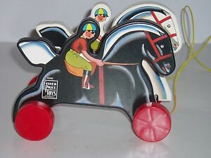 Fisher-Price-Prancing-Horses-Limited-Edition-Pull-Toy-with-COA-6590-NOS