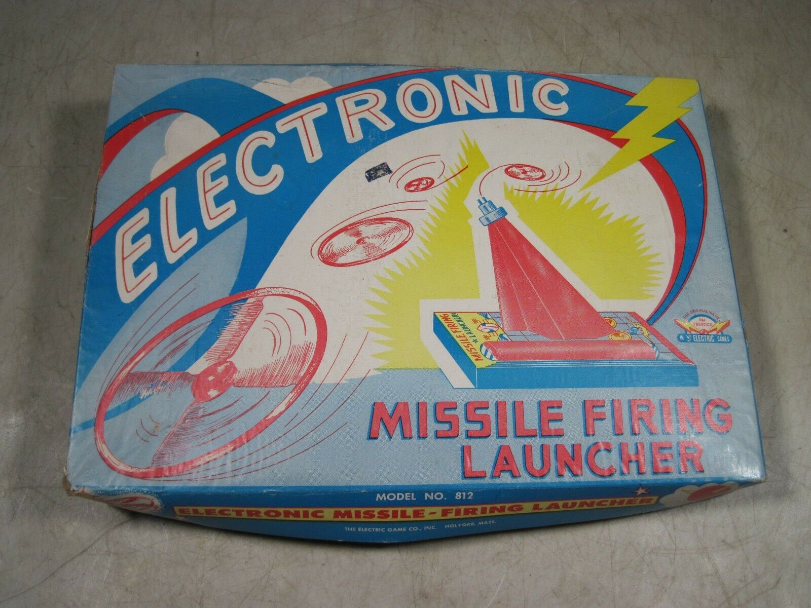 Vintage Jim Prentice Electric Game Co Electronic Missile Firing Launcher Toy USA