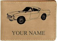 P1800 Volvo Leather Billfold With Drawing & Your Name On It-nice Quality