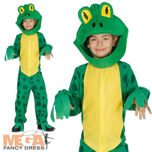 Frog Kids Fancy Dress Animal Boys Girls Childs World Book Day Costume Outfit