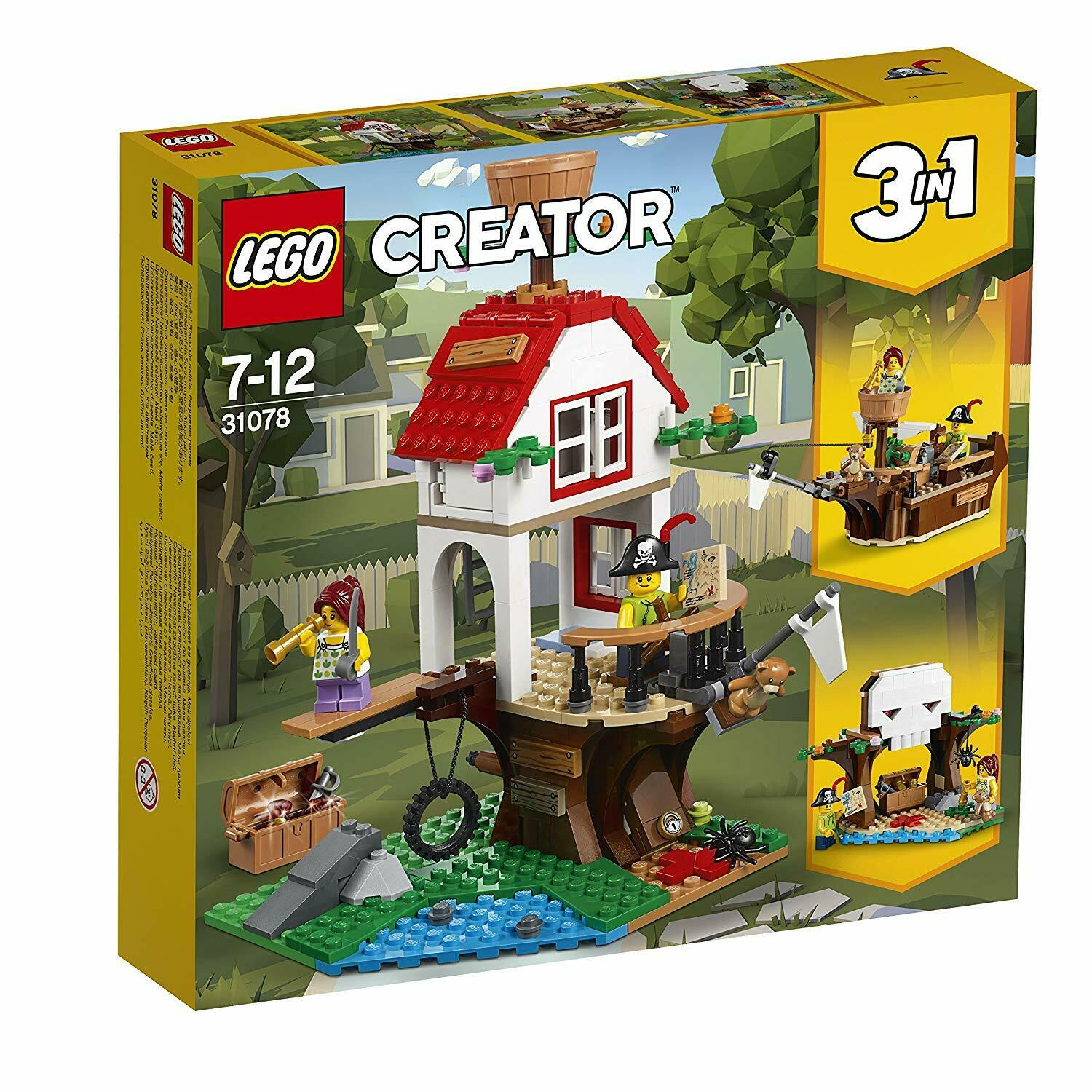 LEGO 31078 Creator 3-IN-1 3-IN-1 3-IN-1 Model Tree House Treasures Toy Ship And Cave Toy Set 2461f9
