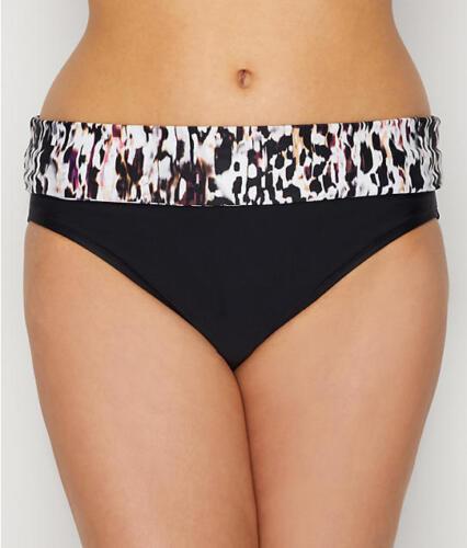 Panache Fiorentino piega Bikini Pant//Slip Costumi da bagno 1057 Nero Animale 10-18