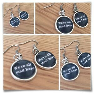 Alice-in-Wonderland-mini-mad-hatter-were-all-mad-here-EARRINGS-B1