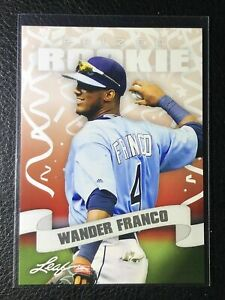WANDER-FRANCO-2018-LEAF-034-1ST-EVER-PRINTED-034-PRIZED-ROOKIE-CARD-TAMP-BAY-RAYS