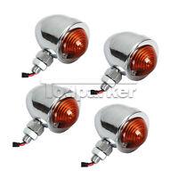 4pcs Chrome Turn Signals Lights Fit Suzuki Intruder Volusia Vs Vl 800 1400 1500