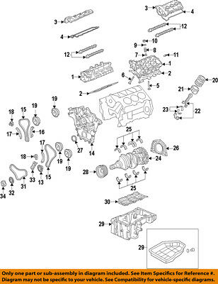 [DIAGRAM_4FR]  KIA OEM 11-16 Sorento-Engine Crankshaft Main Bearing 210303C120 | eBay | 2015 Kia Sorento Engine Diagram |  | eBay