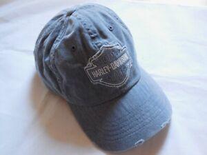 Harley-Davidson-Frayed-Bar-amp-Shield-Baseball-Cap-Kappe-Muetze-grau-99414-16VM