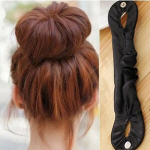 Magic-Fabric-Clip-Ribbon-Donut-Hair-Styling-Bun-Curler-Tools-Maker-Ring-Twist-s