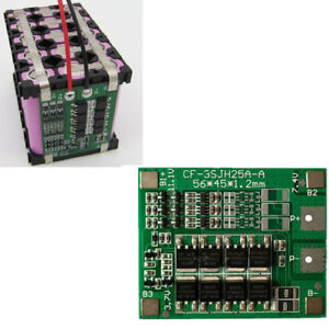 Details about 3S 25A 12V Li-ion Lithium BMS 18650 Battery Charger  Protection Board New Hot
