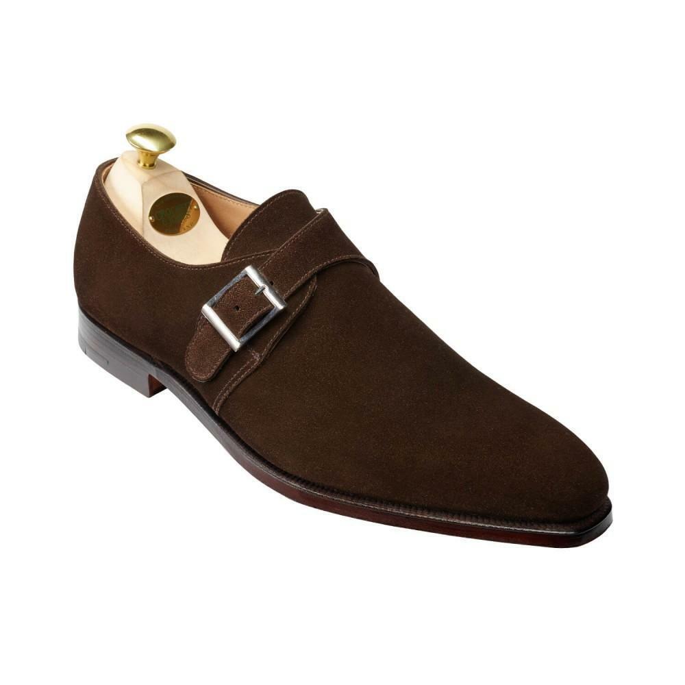 Crockett & Jones Monkton en Daim Marron Chaussures  Made in England