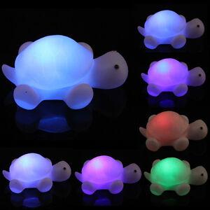 Nachtlicht-Andern-LED-Schildkroete-Lampe-Party-Weihnachtsdekoration-Toys-NEU