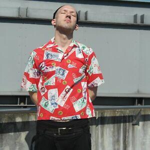 Chemise T-shirt Polo Chemise 80er True Vintage All Over Print Money Shirt 80 S-afficher Le Titre D'origine