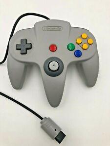 Nintendo-64-N64-NUS-005-Controller-Gray-Authentic-OEM-Good-Stick