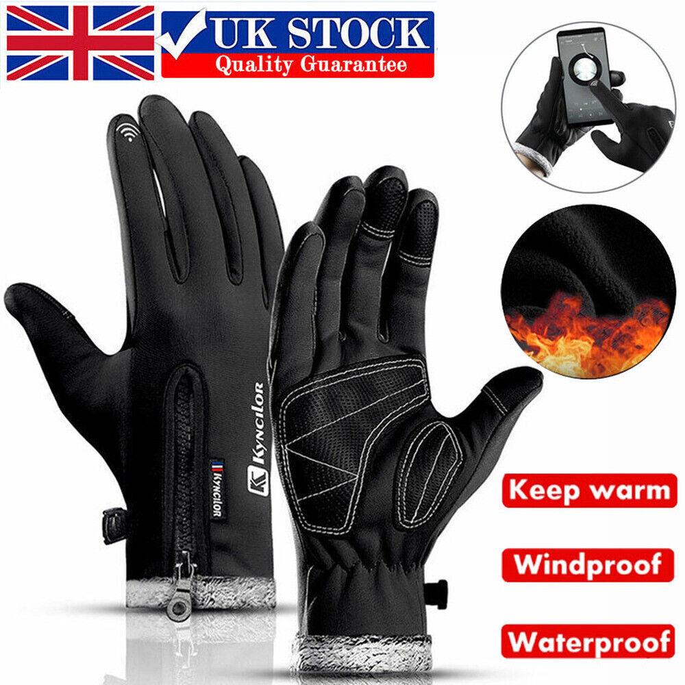 Windproof Waterproof Anti-slip Thermal Touch Screen Winter Warm Bike Ski Gloves