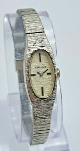 Vintage 1975 Ladies CARAVELLE by Bulova Silver Tone Mechanical Cocktail Watch
