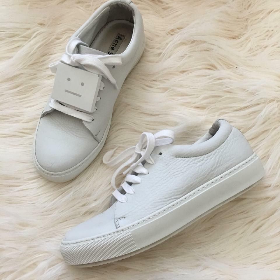 ACNE Studios Adrianna Weiß Weiß Weiß Leather Block Turnschuhe schuhe 38 8 common projects 37368d