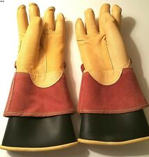 North Linemans Class 2 Type 1 Gloves Size 10 With Magid Leather Protector