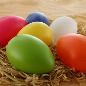 EMPTY-EASTER-HUNT-EGGS-ASSORTED-COLOURS-PLASTIC-PACK-EASTER-EGGS-Quality-S4O3