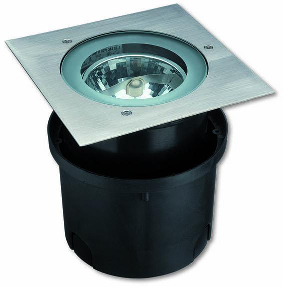 Luminaire Cochere encastrable extérieur IP65 HYDROFLOOR MEDIUM AR-111 SQUARE G53