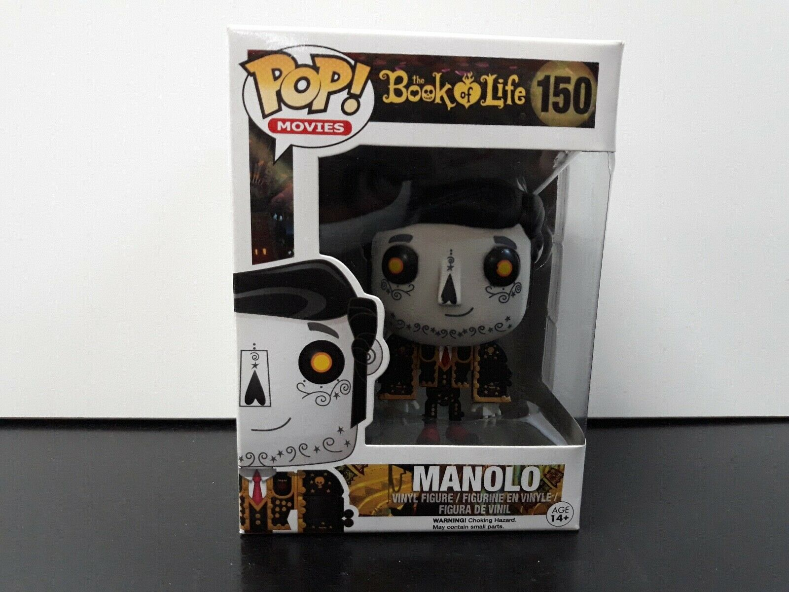Vinyl pop figure funko manolo  new new  pop 150 the book of life