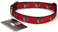 Chicago Blackhawks Ribbon Dog Collar