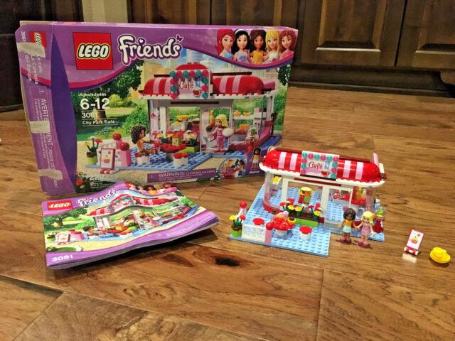 LEGO Friends Park Café 3061 100% Complete Original Box, Manual and 2 Minifigs