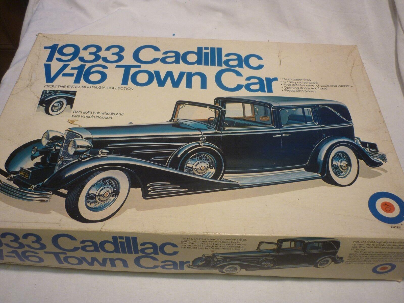 A Bandai un made plastic kit of a 1933 Cadillac V16 Town car, boxed