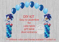 Sega Sonic The Hedgehog Balloon Arch With Columns Birthday Party Decorations