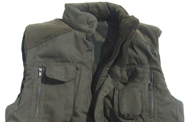 TACVASEN Men Winter Gilet Fleece Body Warmer Outdoor Warm Vest Windproof Gilet Jacket with Pockets