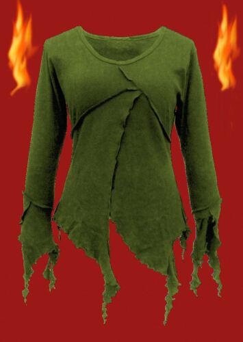 Tunika 40 42 44 46 Gothic Mittelalter Pixie Witchy Elfe Bluse Top Shirt Zipfel