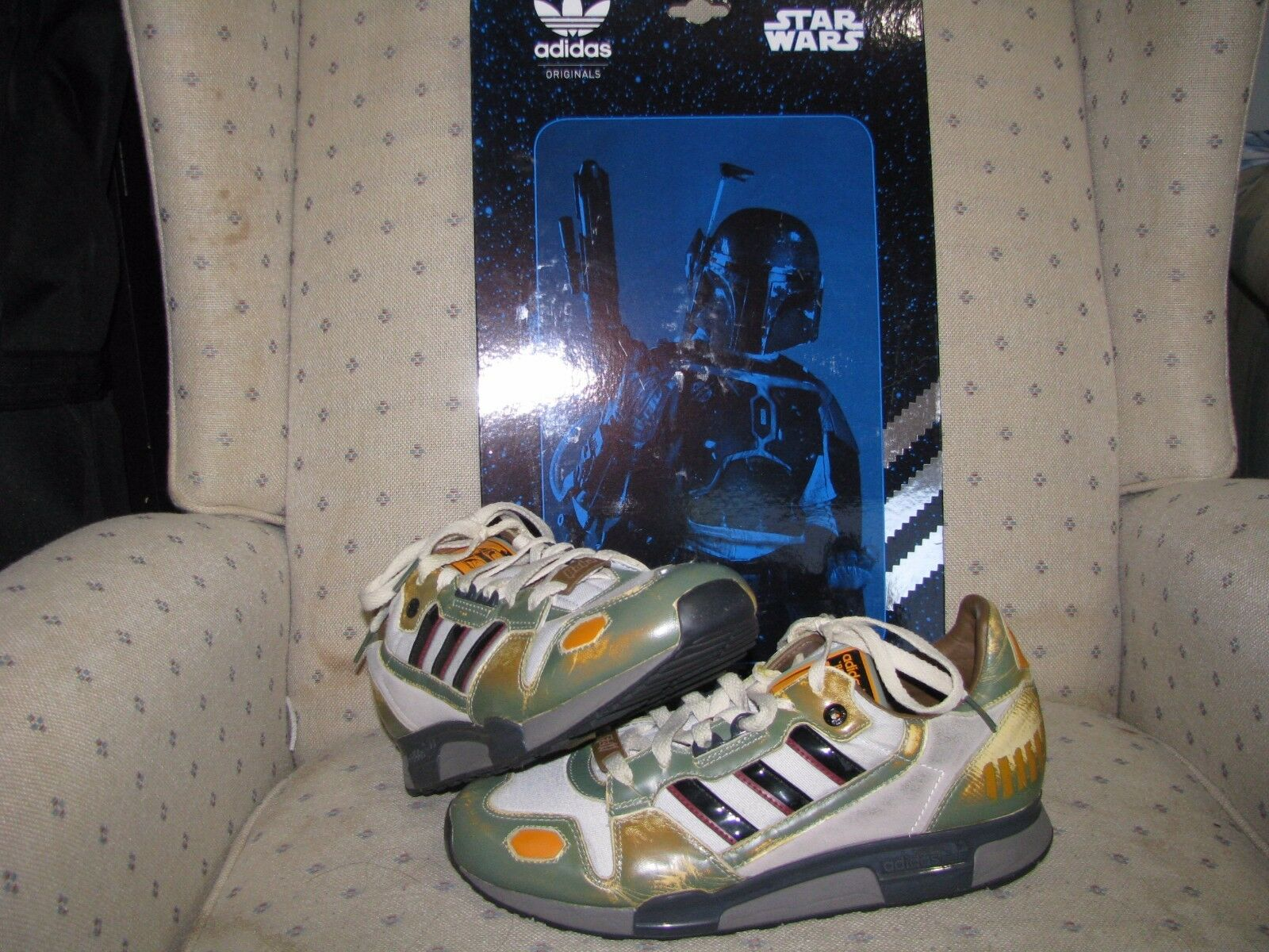 Adidas originale star wars boba fett zx800 han solo skywalker rogue vader saber