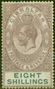 Gibraltar-1924-8s-Dull-Purple-amp-Green-SG101-Fine-Lightly-Mtd-Mint