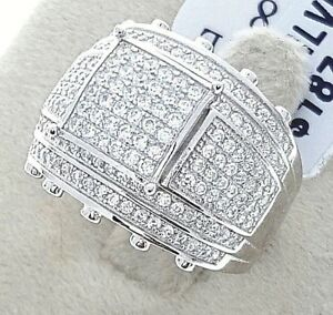 Ladies Female Women/'s Designer Real 925 Sterling Silver CZ Party Cocktail Ring