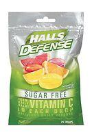 Halls Defense Sugar Free Vitamin C Supplement Drops (assorted C... Free Shipping