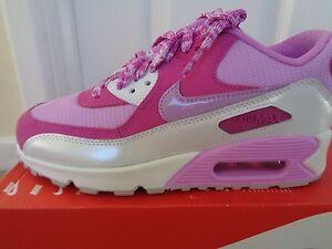 cheap for discount 604ec 08602 La imagen se está cargando Nike-Air-Max-90-malla-GS-Ninas-Zapatillas-