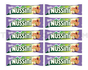 Image Is Loading 10 X Milka Nussini Chocolate Covered Wafers With