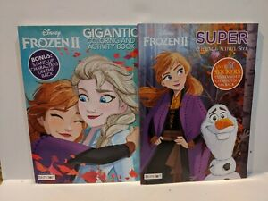 2 Pack Disney Frozen Ii Color Activity Books With Sticker Anna Elsa 4 9781690204329 Ebay