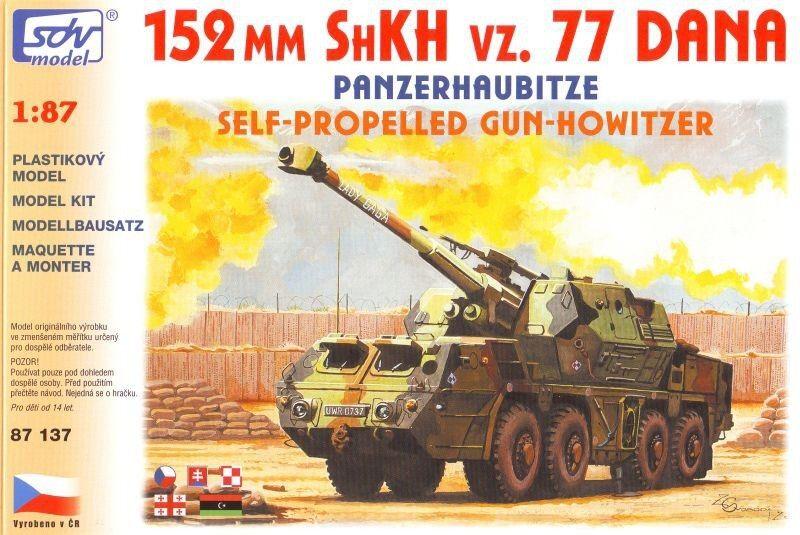 SDV Plastic Model Kit 1 87 H0 Self Propelled Gun Gun Gun Howitzer 152mm SHKH vz 77 Dana 7890e1