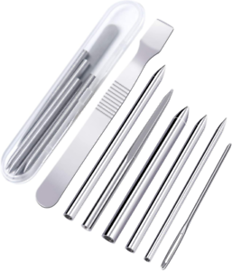 Paracord Lacing Stitching Needle Stainless Steel Paracord FID Set Kit Pack Of 7