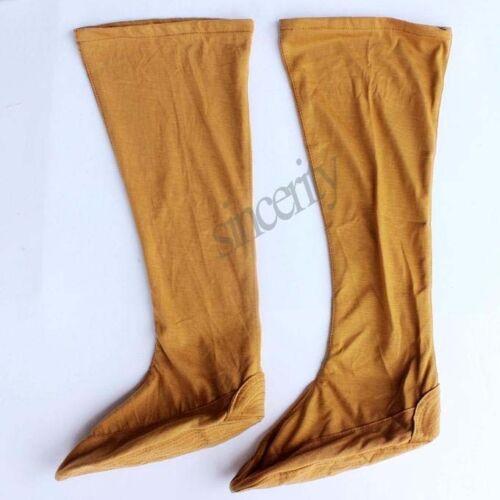 hot Grey Cotton Traditional Shaolin Monks Wudang Taoists Long Kung fu Socks