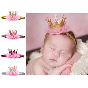 Baby-Girl-Crown-Headband-Princess-Crown-Hair-band-Pearl-Tiara-Lace-Headwear-LN